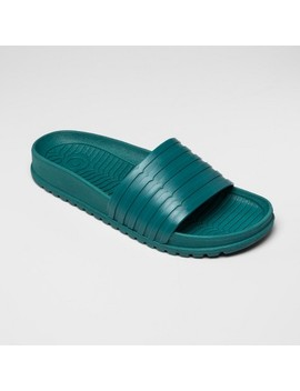Hunter For Target Women's Slide Sandals   Teal by Hunter For Target