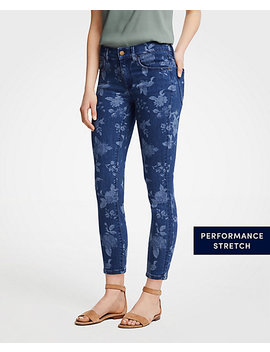 Modern Island Floral All Day Skinny Crop Jeans by Ann Taylor
