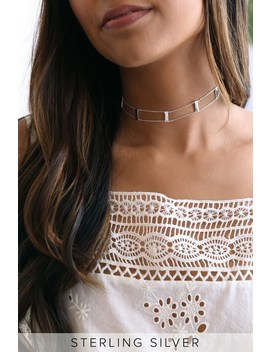 Bar None Sterling Silver Choker Necklace by Lulus