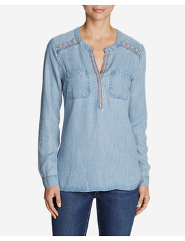 Women's Tranquil Embroidered Popover Tunic by Eddie Bauer