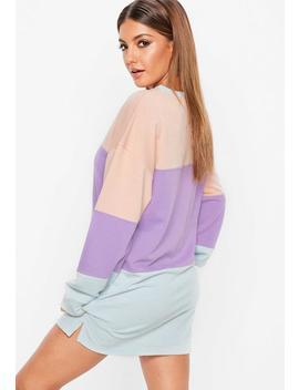 Purple Long Sleeve Oversized Sweatshirt Dress by Missguided