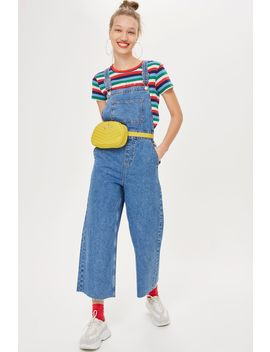 Cropped Wide Leg Dunagrees by Topshop
