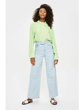 Moto Self Belt Wide Leg Jeans by Topshop
