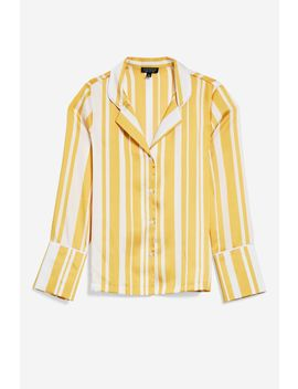 Stripe Pyjama Style Shirt by Topshop