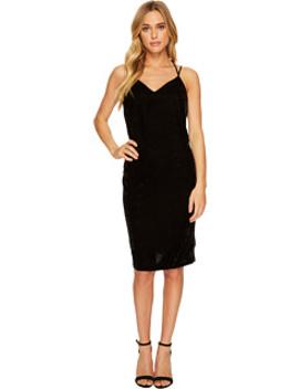 Velvet Slip Dress W/ Tuxedo Trim Sides by Splendid