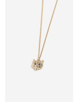 **Fox Ditsy Necklace by Topshop