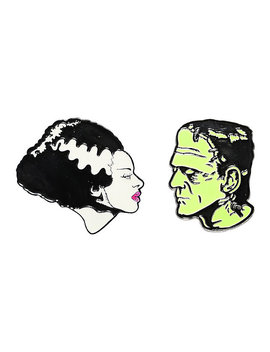 Universal Monsters Glow In The Dark Enamel Pin Set by Hot Topic