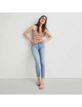 "9"" High Rise Skinny Crop Jeans: Button Front Edition by Madewell"