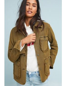 Ruffled Utility Jacket by Anthropologie
