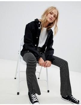 Daisy Street Flare Pants In Fine Stripe by Daisy Street
