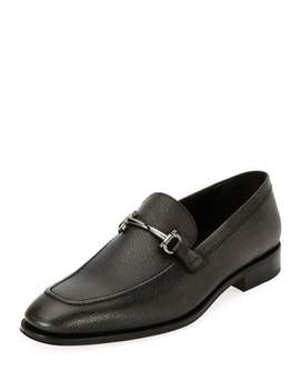 mens-textured-leather-gancini-bit-loafer by salvatore-ferragamo