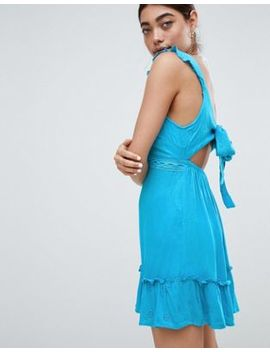 River Island Bow Back Cut Out Beach Dress by River Island
