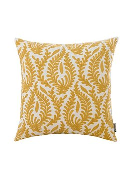 Hwy 50 Couch Throw Pillow Covers 18x18 Inch , 1 Piece Cotton Canvas Home Decoration Embroidered Throw Pillows Case For Sofa / Bed , European Abstract Branches Yellow Geometric Pattern Cushion Cover by Hwy 50