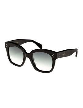 Square Gradient Acetate Sunglasses, Black Pattern by Celine