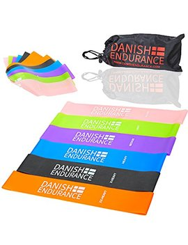 Danish Endurance 6 Or 3 Pack, Resistance Loop Exercise Bands By, Ideal For Exercise, Workout, Fitness, Physical Therapy, Yoga, Pilates And Stretching At Home, At Work Or When Travelling by Danish Endurance