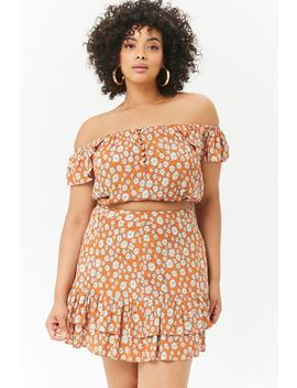 Plus Size Tiered Daisy Skirt by Forever 21