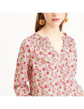 Peasant Top In Liberty® D'anjo Floral by Peasant Top In Liberty