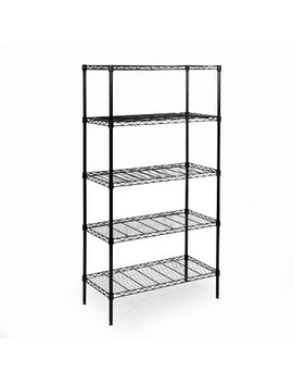 5 Tier Black Epoxy Steel Wire Shelving 14x30x60 – Seville Classics by Seville Classics