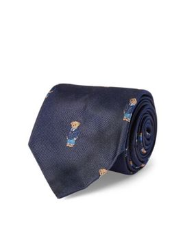 Polo Bear Silk Repp Narrow Tie by Ralph Lauren