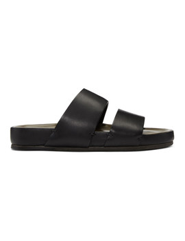 Black Two Strap Sandals by Feit