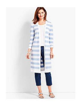 Long Marled Stripe Fashion Duster by Talbots
