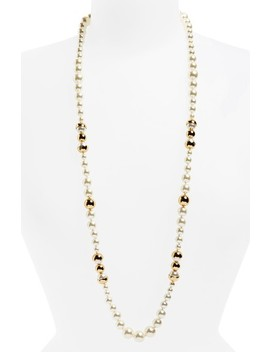 Imitation Pearl Strand Necklace by Tory Burch