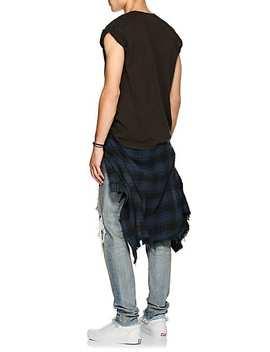 """Nirvana"" Distressed Cotton T Shirt by Madeworn"