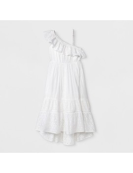 Girls' Woven Maxi Dress   Cat & Jack™ White by Cat & Jack™