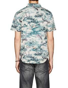 Beach Print Cotton Jersey Shirt by Rrl