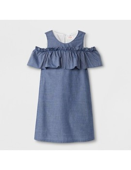 Girls' Woven Dress   Cat & Jack™ Blue by Cat & Jack™