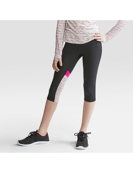 Girls' Elevated Stripe Capri Leggings   C9 Champion® by C9 Champion®