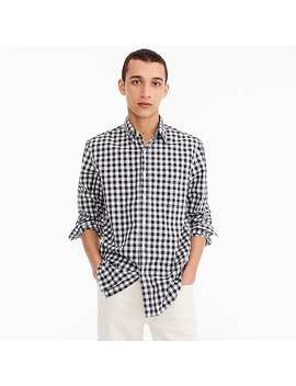 Stretch Secret Wash Shirt In Heather Poplin Gingham by J.Crew