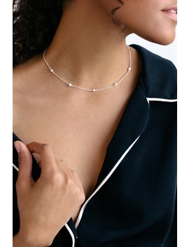 Perfectly Pretty Silver And Pearl Necklace by Lulus