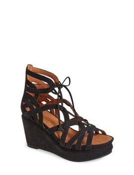 'joy' Lace Up Nubuck Sandal by Gentle Souls