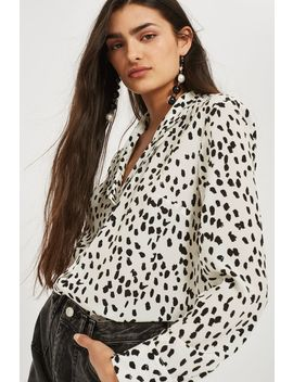Tall Animal Print Pyjama Shirt by Topshop