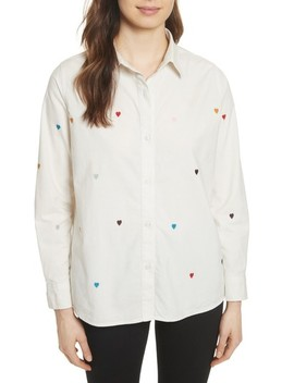 The Campus Heart Embroidered Shirt by The Great.