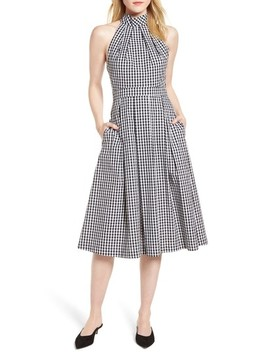 Gingham Halter Dress by 1901