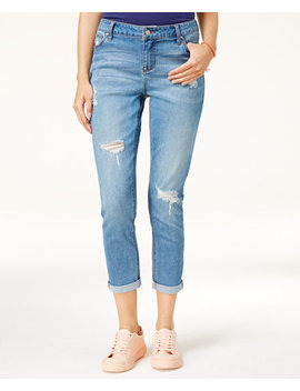Juniors' Ripped Girlfriend Jeans by Celebrity Pink