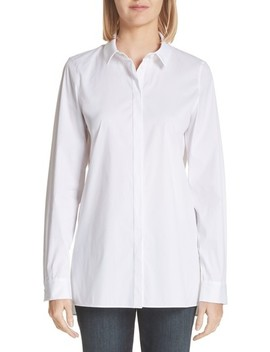 Brayden Excursion Stretch Blouse by Lafayette 148 New York