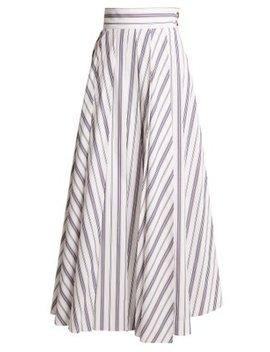 Striped Cotton Maxi Skirt by A.W.A.K.E.