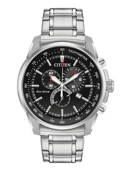 Eco Drive Men's Stainless Steel Bracelet Watch 44mm, Created For Macy's by Citizen