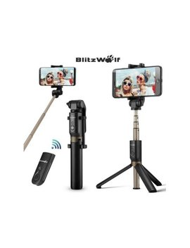 """Blitz Wolf Bw Bs3 Bluetooth Selfie Stick Tripod Monopod With Remote Control Shutter Handheld Extendable Folding Mini Pocket 360° Clamp Universal Fit For 3.5"""" 6"""" Screen Smart Phone by Blitz Wolf"""