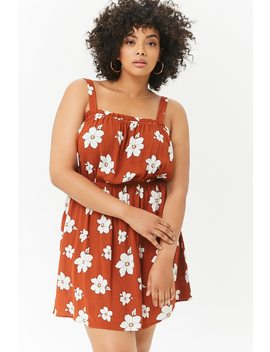 Plus Size Floral Square Neck Dress by Forever 21
