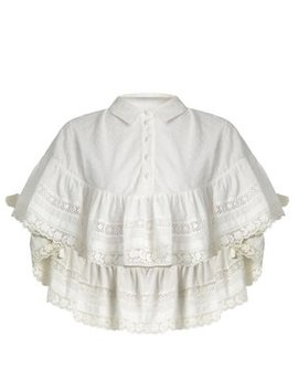 Frill Detail Cotton Blouse by Red Valentino