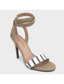 Women's Sandra Striped Wrap Heeled Pumps   Who What Wear™ by Who What Wear