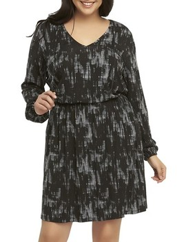'robby' Print Jersey V Neck Dress by Tart