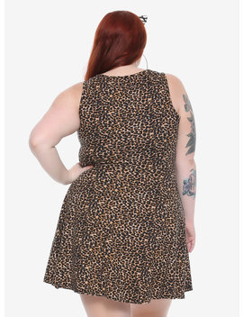 Leopard Print Skater Dress Plus Size by Hot Topic