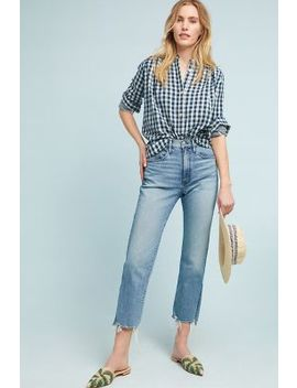 3x1 Nyc W4 Relaxed Split Cropped Jeans by 3x1 Nyc
