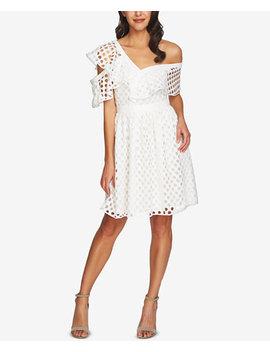 Cutout Lace One Shoulder Dress by Ce Ce