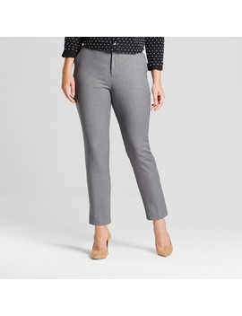 Women's Straight Leg Curvy Fit Slim Ankle Pants   A New Day™ by A New Day™